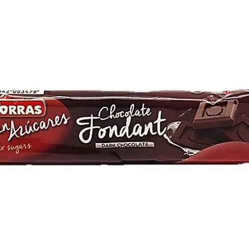 Chocolatina De Chocolate Negro Fondant Sin Azúcar Torras