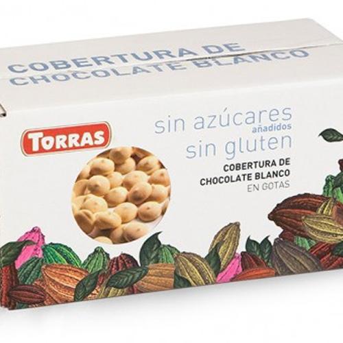 Cobertura Chocolate Blanco En Gotas Sin Azúcar Torras