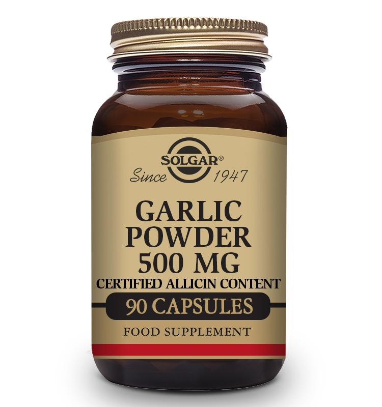 Ajo en Polvo 500 mg 90 Cápsulas Solgar