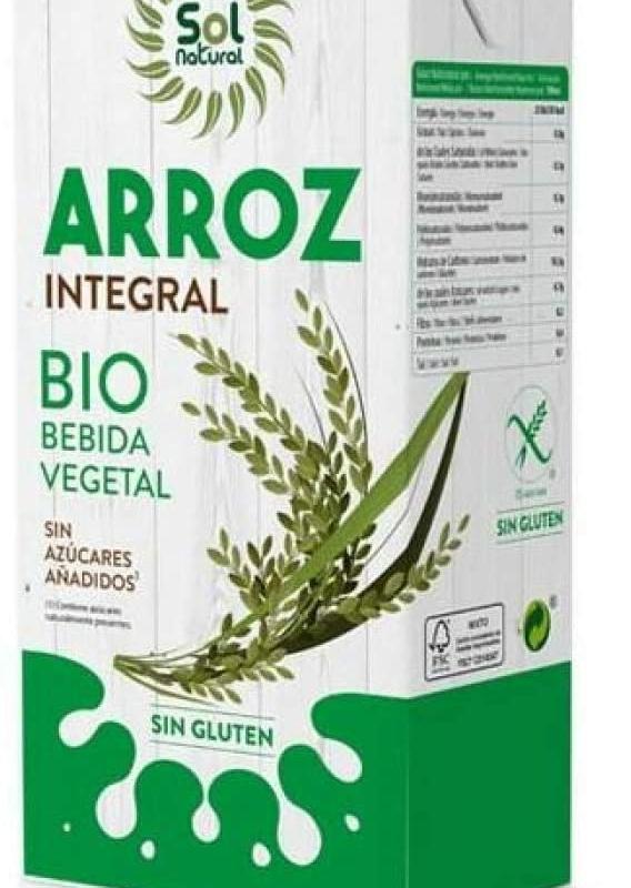 Bebida de arroz integral sazucar bio 1 l